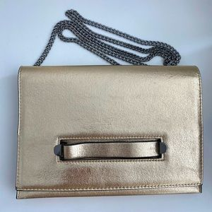 Topshop Metallic Evening Clutch with Strap